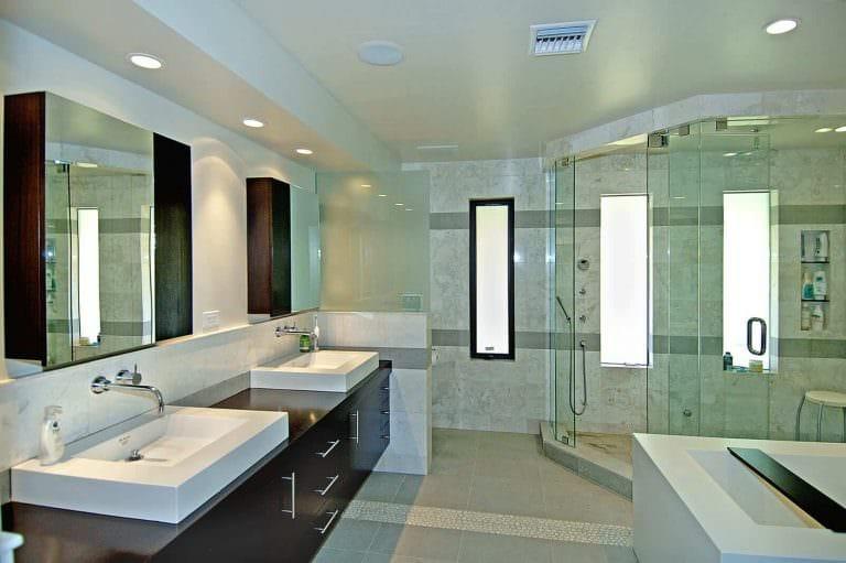 современном ванной