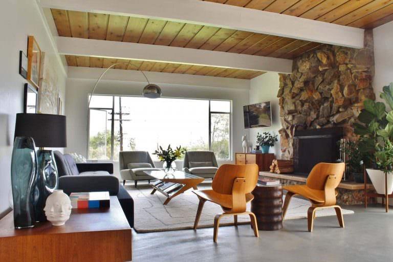 midcentury-Wohnzimmer